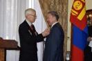 13. Награждение медалью За вклад в укрепление дружбы между Россией и Монголией